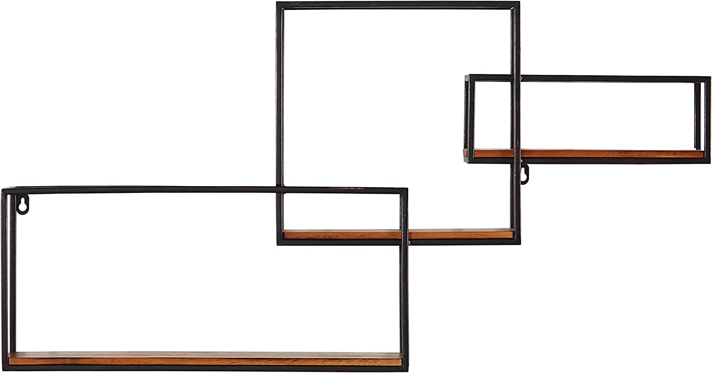 Amazon Brand – Rivet Contemporary Cubic Iron 3-Shelf Floating Unit - 18.11