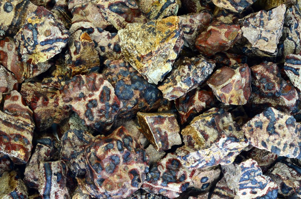 Fantasia Materials: 2 lbs Animal Jasper Rough Stones from Mexico - Raw Natural Rocks for Cabbing, Cutting, Lapidary, Tumbling, Polishing, Wire Wrapping, Wicca & Reiki Healing