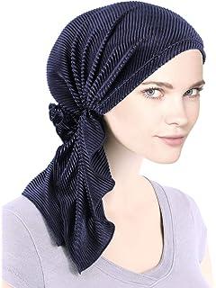 4889a2c53 Bella Scarf Plisse Chemo Hat Turban Head Scarves Pre-Tied Headwear Bandana  Tichel for Cancer
