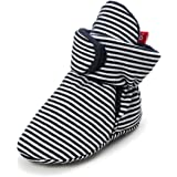 Meckior Newborn Infant Baby Boys Girls Cozy Fleece Booties Cotton Lining Warm Slippers First Walkers Shoes