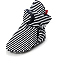 Meckior Newborn Infant Baby Boys Girls Cozy Fleece Booties Warm Slippers First Walkers Shoes(0-18 Months, 12 Colors)