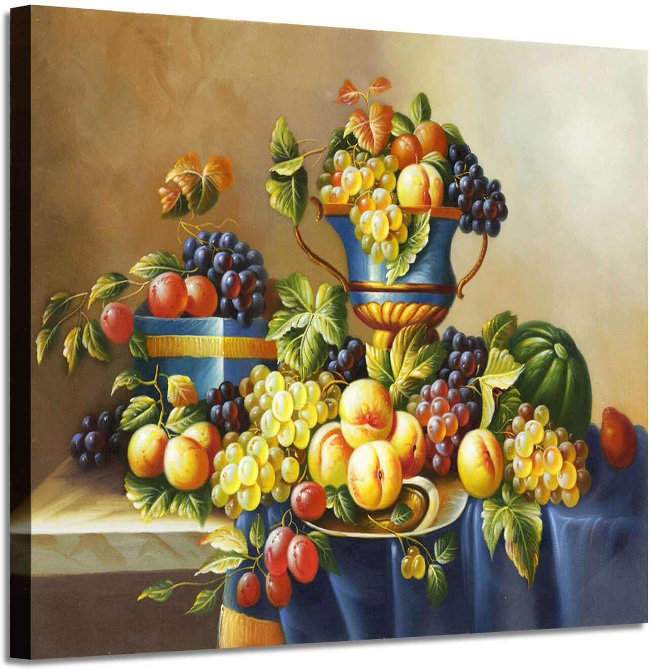 "Fruit Artwork Vintage Wall Art: Fresh Pictures Graphic Art Print on Canvas for Kitchen & Dining Room (24"" x 18"")"
