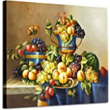 """Fruit Artwork Vintage Wall Art: Fresh Pictures Graphic Art Print on Canvas for Kitchen & Dining Room (24"""" x 18"""")"""