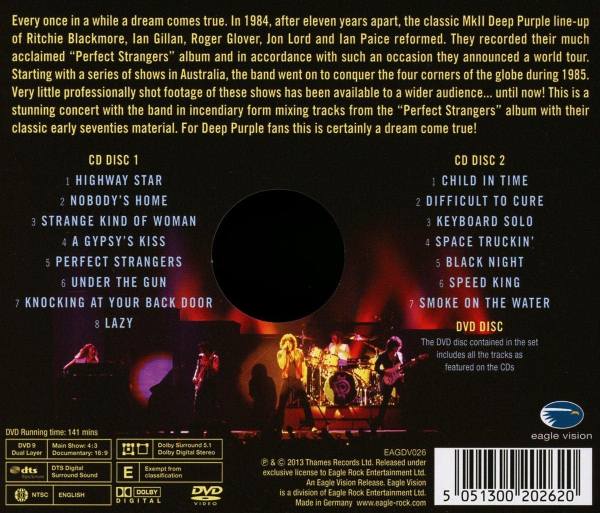 Perfect Strangers Live 20cd+Dvd   Deep Purple Amazon.de Musik