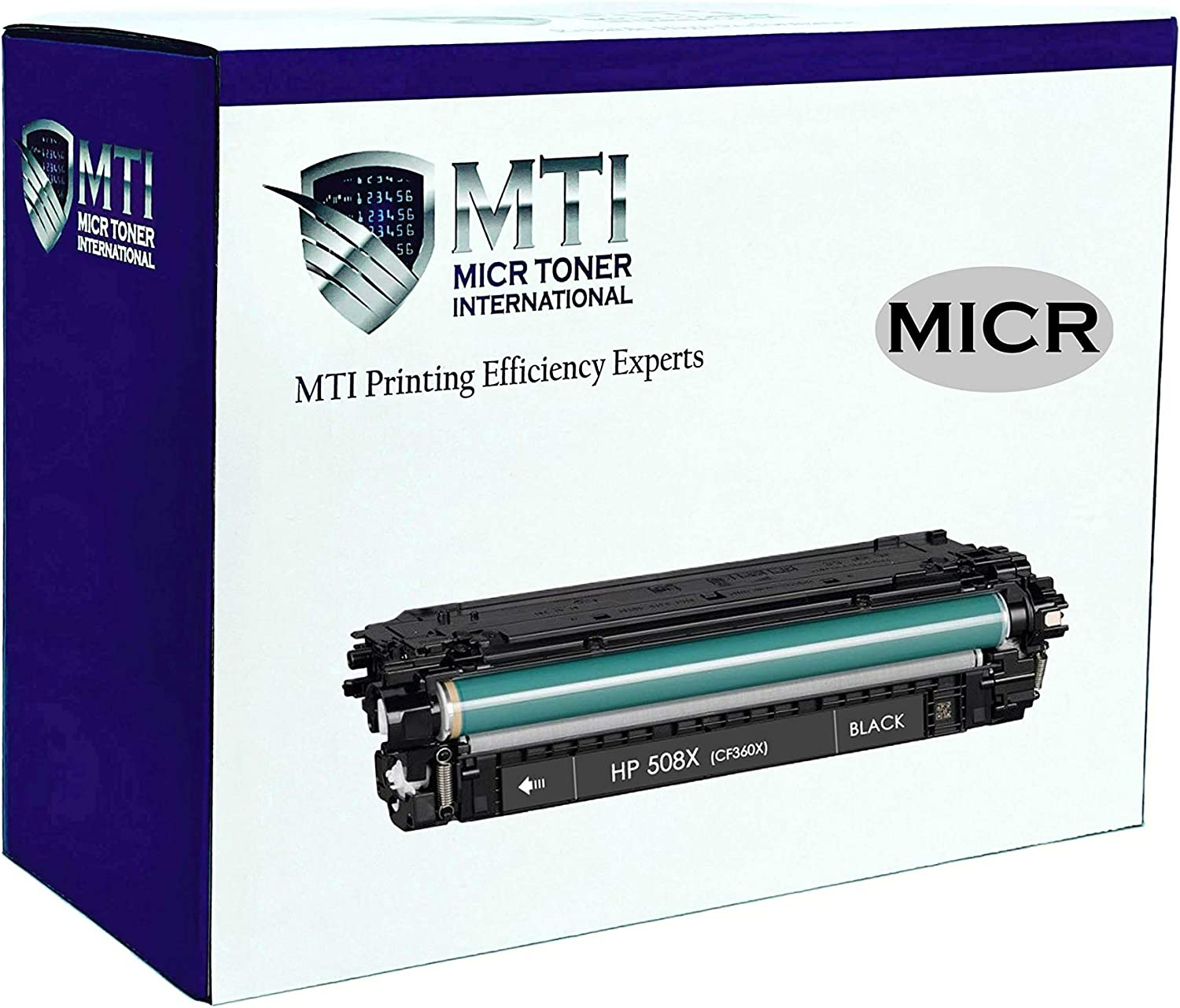 MICR Toner International Compatible High Yield Magnetic Ink Cartridge Replacement for HP 508X CF360X Laserjet M533 M552 M553 M577 E55040