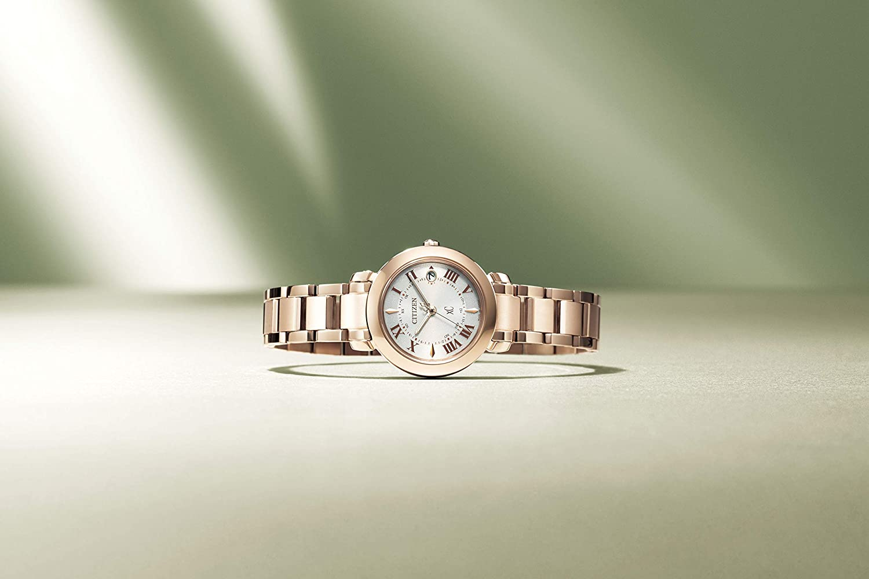 [シチズン] 腕時計 クロスシー hikari collection Titania Happy Flightシリーズ ES9444-50A レディース ピンクゴールド