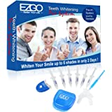 EZGO Home Professional Teeth Whitening Kit 6 XL Whitening Gel, Remineralization Gel with Light, Mouth Tray and Gel Applicator-Teeth Whitening Kit 60 Treatments, Great Gift Idea