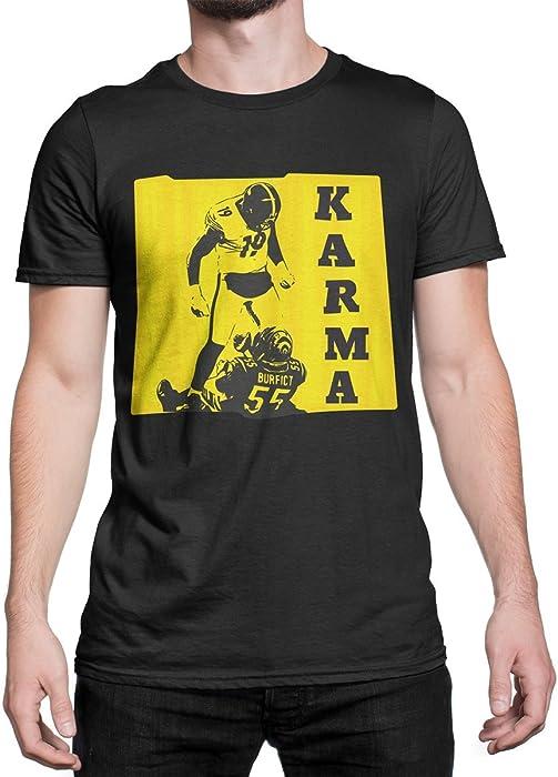 307970bff ... Steelers Karma Shirt JuJu Smith Schuster T-Shirt JuJu Karma Tee Antonio  Brown Karma Tshirt ...