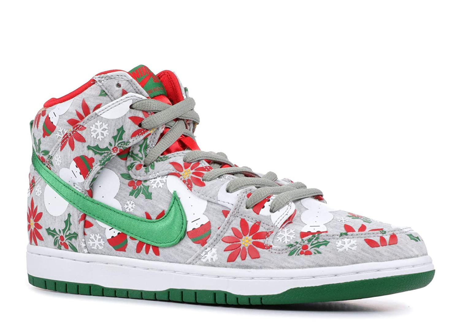 buy online 48af0 42d6f Amazon.com | Nike Dunk High SB PRM Ugly Christmas Sweater (635525-036) |  Fashion Sneakers