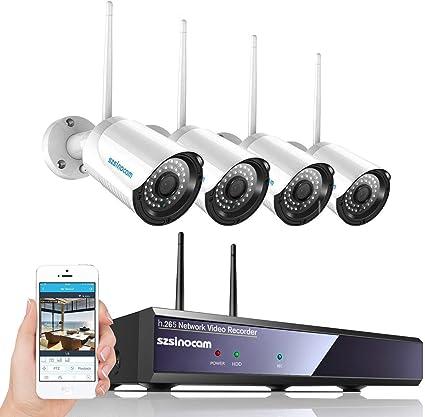 2 telecamere tramite app operative 500gb 4 canali sistema di sorveglianza