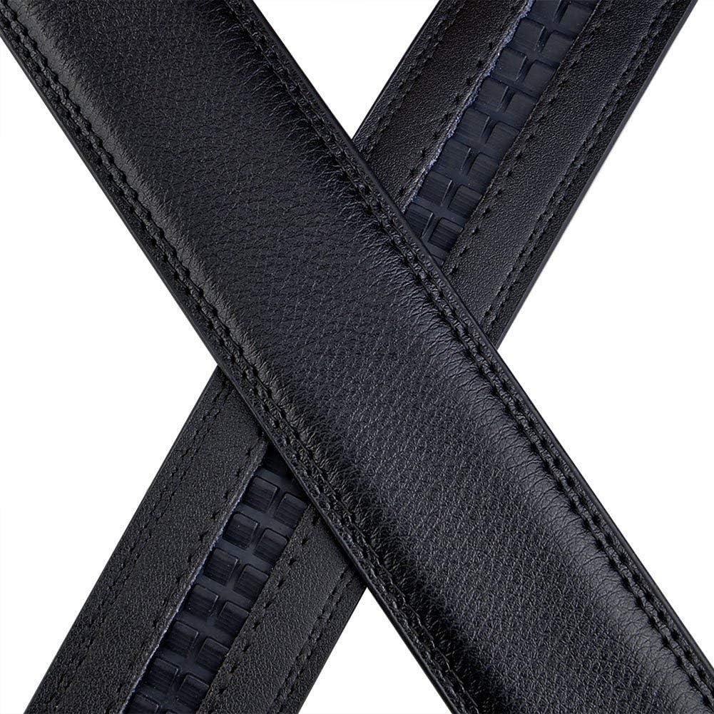 X XHtang Ceinture Homme En Cuir Automatique Ceinture Dhommes Habill/ée 35MM,De Taille Peut /être Ajust/ée,Noir106,Longueur:125cm