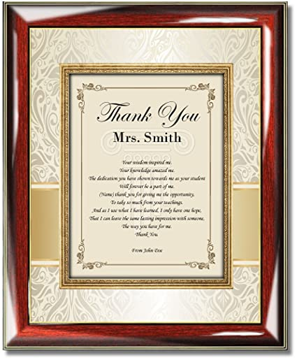 Amazon.com - Personalized Poetry Educator Picture Frame Teacher ...