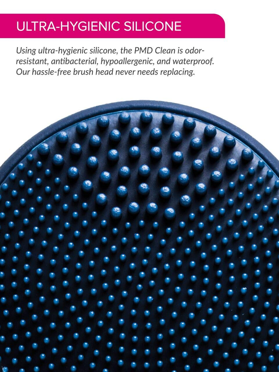 PMD Clean | Smart Facial Cleansing Brush and Face Massager Device for Youthful Skin | Navy with Gold by PMD Personal Microderm (Image #6)