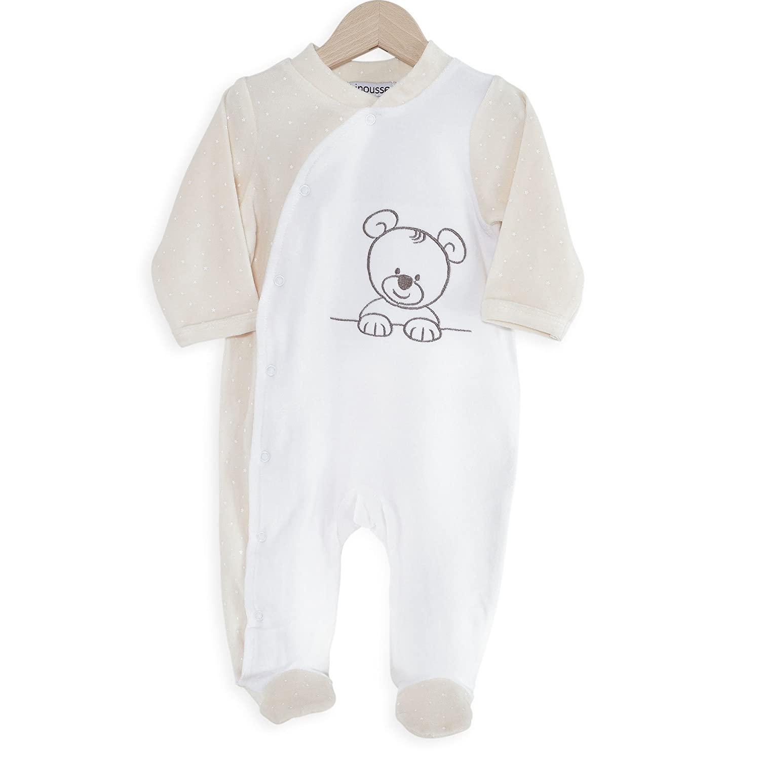 Kinousses Baby Boys' Bear cub Footie Brown Chocolate 0 Months 810 2112