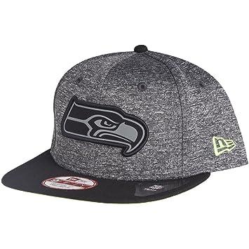9フィフティ (New Era) ブラック シアトル・シーホークス スナップバック (Seattle Seahawks) ニューエラ キャップ -