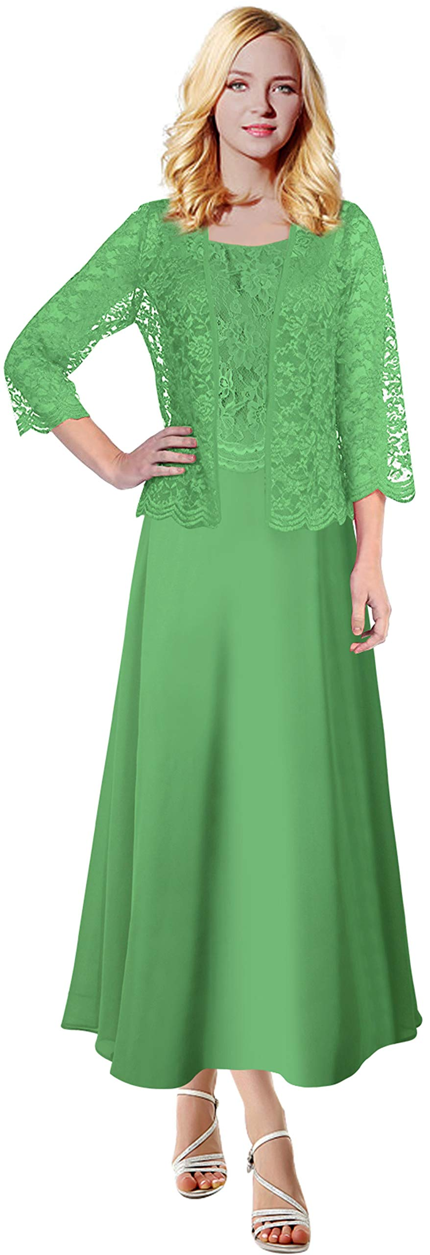 4086db1655cb VaniaDress Women Lace Mother of The Bride Dress with Jacket V108LF Matcha  US6