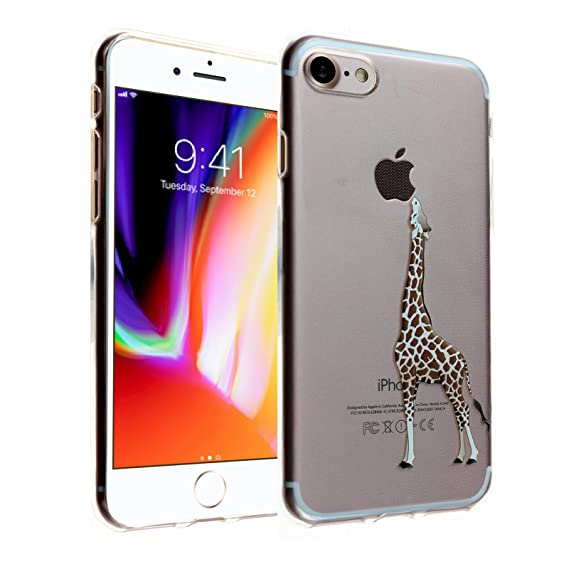 huge selection of a74b1 b58cc Giraffe iPhone 7 Case, DURARMOR FlexArmor iPhone 7 Clear Giraffe Case Cover  Bumper ScratchSafe Rubber TPU Case Drop Protection Cover for iPhone 7 ...