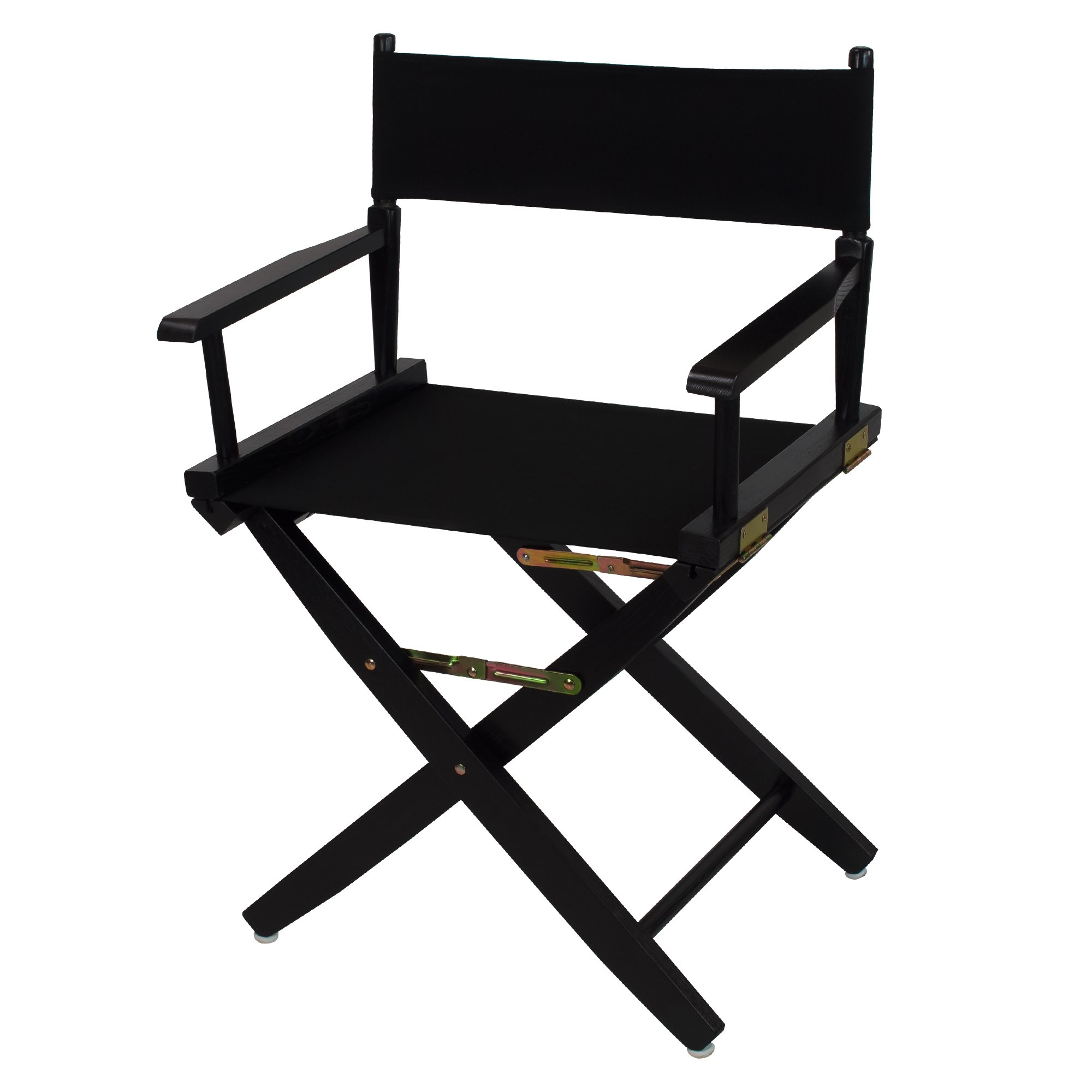 American Trails Extra-Wide Premium 18'' Director's Chair Black Frame with Black Canvas by American Trails
