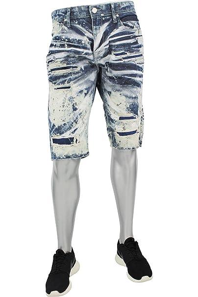 550364e9e4d878 NEW MEN JORDAN CRAIG CUT OFF JEAN WASH SHORT DENIM RIPPED (J684S) (30)   Amazon.ca  Clothing   Accessories