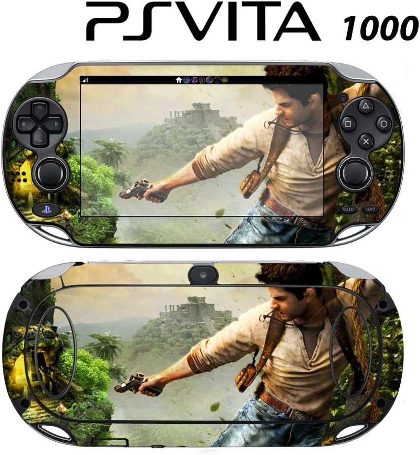 Decorative Video Game Skin Decal Cover Sticker for Sony PlayStation PS Vita Uncharted Golden Abyss PCH-1000