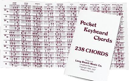 Pocket Piano Chord tabla de referencia para teclado: Amazon.es ...