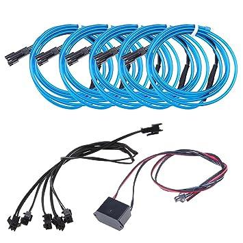 Neon Beleuchtung 1m EL Kabel Wire mit DC 12V Kontroller Flexibel ...