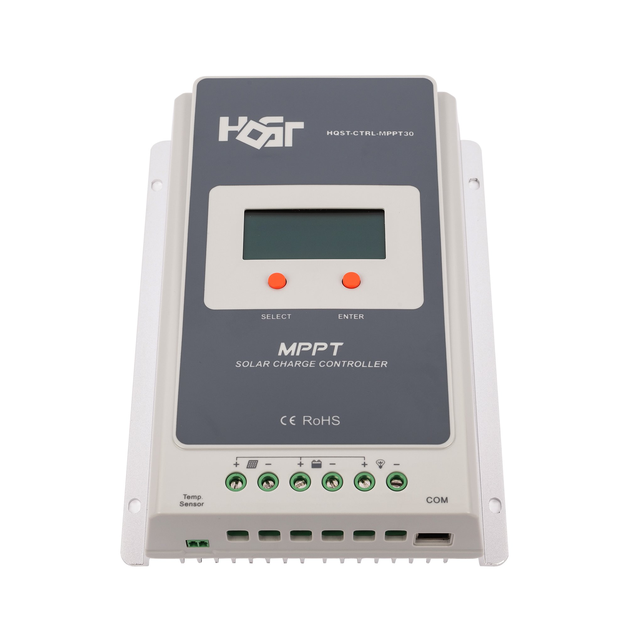 HQST 30A Positive Ground MPPT 12V/24V Battery Solar Charge Controller Multiple Load Control Modes with LCD Display