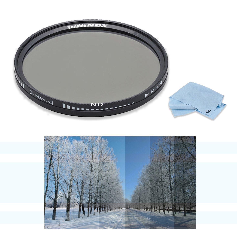 High Definition 49 mm 10-stop NDXニュートラル密度可変フィルタfor Sony 35 mm f2 . 8 Sonnar T FE ZAフルフレームプライム固定レンズ、Sony 50 mm f/1.8ミッドレンジレンズ& Sony 50 mm f/1.8 Sam DTレンズ   B07DRPF2PL