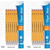 Paper Mate SharpWriter Mechanical Pencils, 0.7mm, HB #2, Yellow, 24 Count