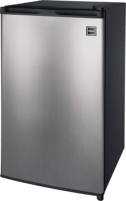 RCA RFR322-B 3.2 Cu Ft Single Door Mini Fridge with Freezer RFR322