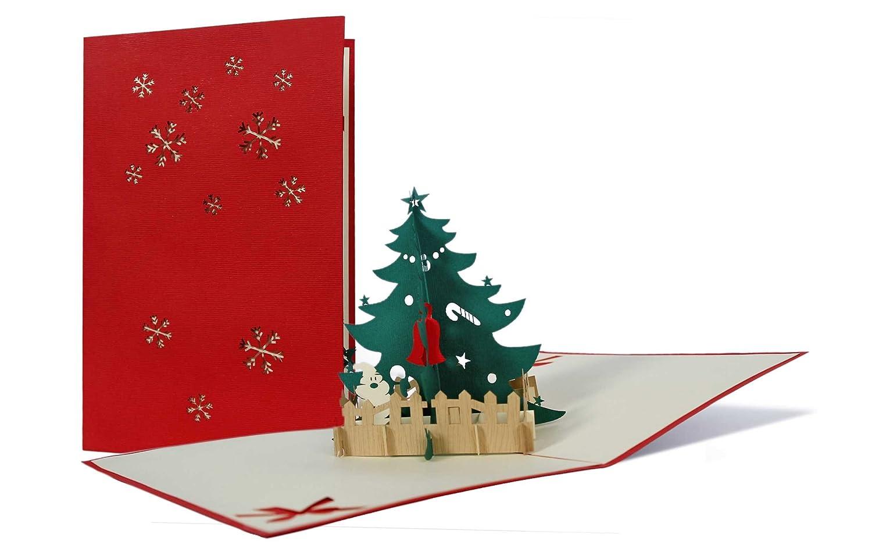 Weihnachtskarten Set mit Umschlag, Geschenkkarten, edel, klassisch ...