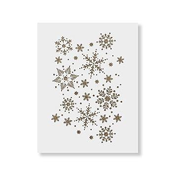 amazon snowflakesステンシルパターンテンプレート 再利用可能な