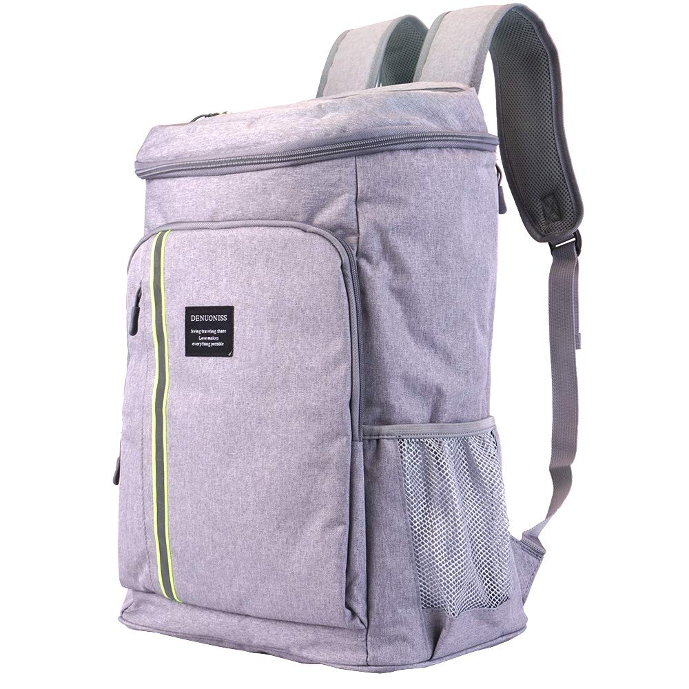 Cooler Backpack Insulated Waterproof, Leak Proof, Leakproof, Large Grey by Bodaon