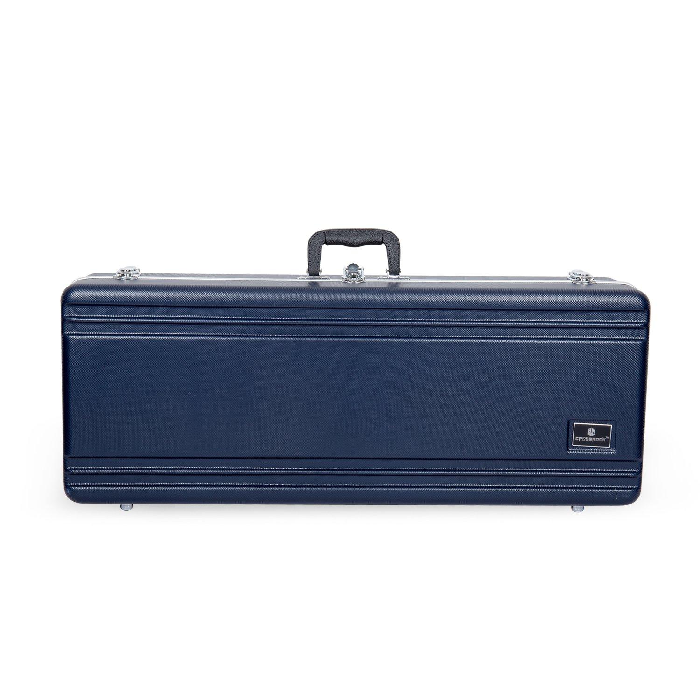 Crossrock CRA860TSBL-R Tenor Saxophone Case- Rectangular ABS Molded with Single Shoulder Strap, Blue