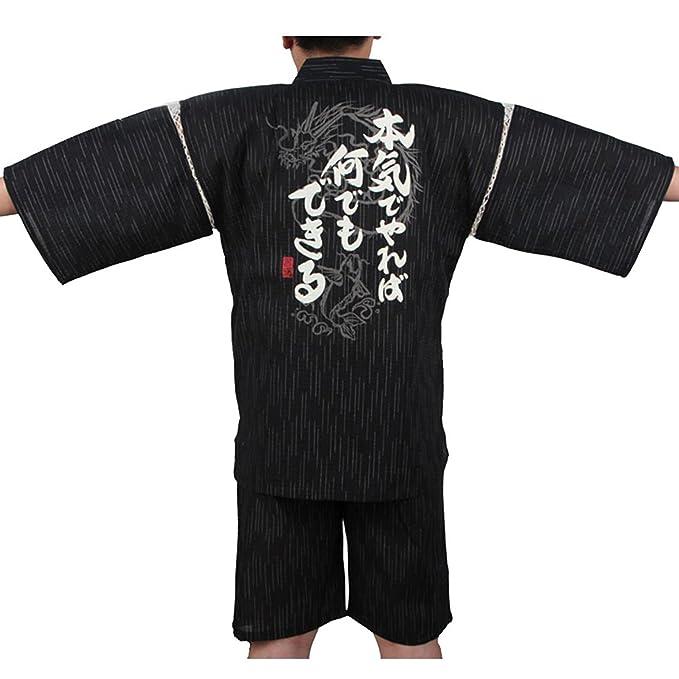 Fancy Pumpkin Traje de Estilo japonés Jinbei para Hombre Kimono Pijama XL-06