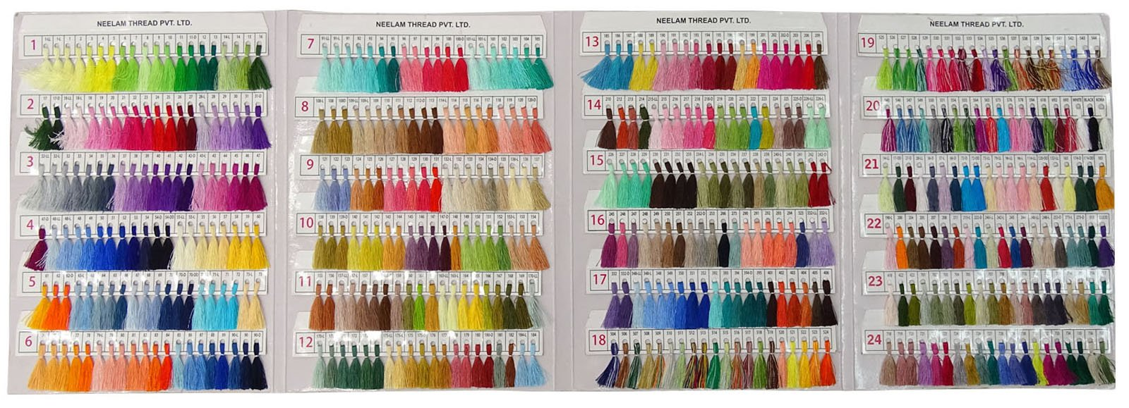 Telephone Threads Azo Free Viscose Rayon Embroidery Thread Shade Card - 480 Color Chart by Telephone Threads (Image #1)