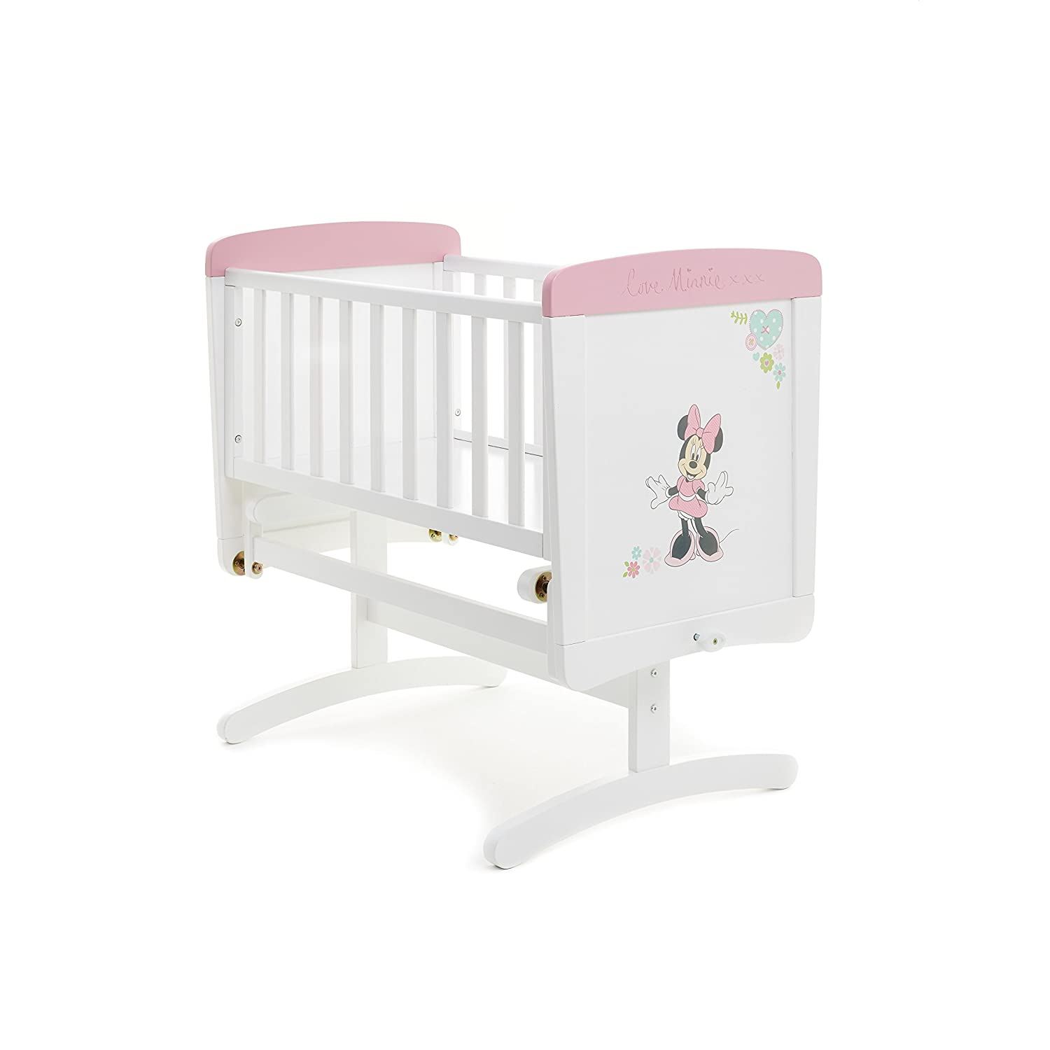 Disney Minnie Mouse Gliding Crib (White with Pink Trim) 22DB0306