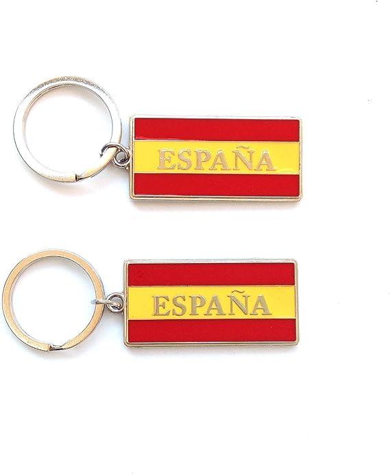 Sin marca Llavero Metal Bandera ESPAÑA, 2 Unidades: Amazon.es ...