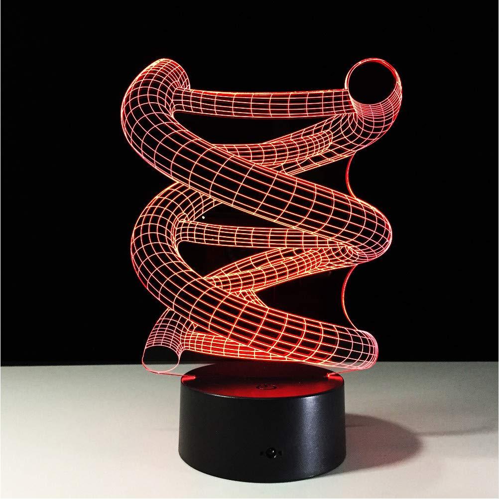 Zfkdsd Lámpara De Sobremesa Acrílica Geométrica Geométrica Geométrica 7 Colores Que Cambian La Lámpara De Escritorio Lámpara 3D Novedad Luz De Noche    Led Luz Para Niños Kid a3b845