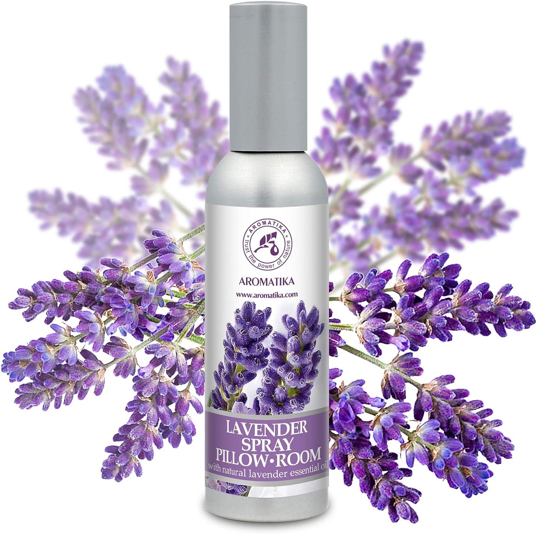 Spray de Aromaterapia de Lavanda 75ml - 100% Pura Aceite Esencial de Lavanda - Ideal para Yoga - Spray para Almohada - Relajación - Sueño y Spray para Habitación