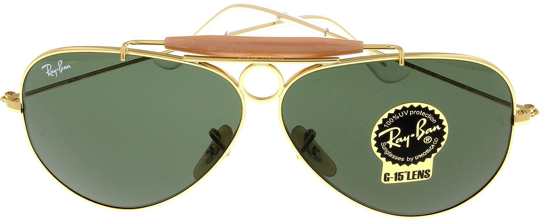c31c3a281ce85d Amazon.com  Ray Ban Sunglasses Shooter Aviator Unisex Browbar Enhanced RB3138  001  Shoes