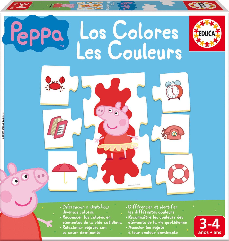 peppa pig aprendo los colores juego educativo educa borrs amazones juguetes y juegos