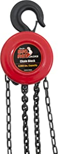 Torin Big Red Chain Block / Manual Hoist with 2 Hooks, 3 Ton (6,000 lb) Capacity
