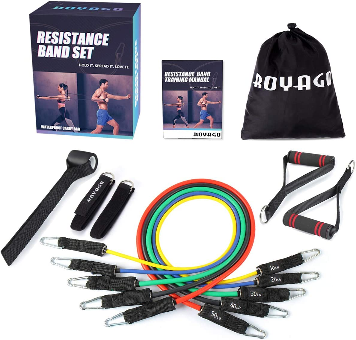 6er Set Mini Band Fitness Band Gymnastics Band Loops Bands Rubber Resistance Band
