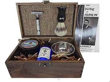Gentlemen's Old World Shaving Kit - (Herringbone, The Hunt) unique mens gifts mens