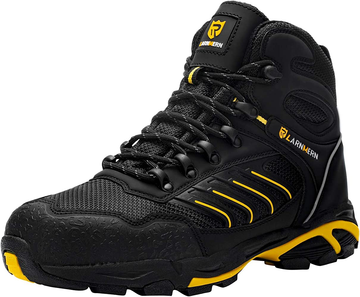LARNMERN Steel Toe Boots Puncture Proof