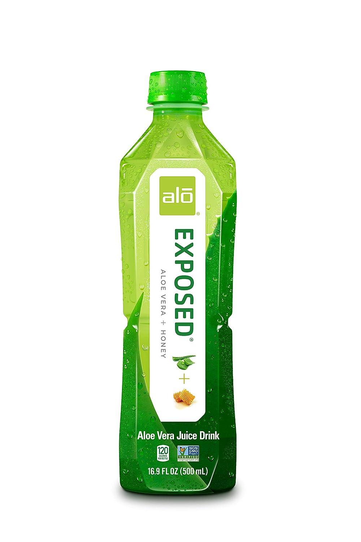 Amazon Com Alo Exposed Aloe Vera Juice Drink Aloe Vera Honey Pack Of 12 16 9 Ounce Bottle Fruit Juices Grocery Gourmet Food