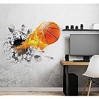 Aoligei 3D Baloncesto Pegatinas de Pared Sala de Estar Dormitorio Calcomanía Dibujos Animados Niños Adolescentes Niños…