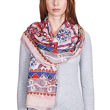 86b0c155f24 Allée du foulard Etole soie Horla Rose  Amazon.fr  Vêtements et ...