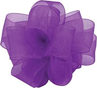 "product image for Offray Berwick LLC 425008 Berwick Simply Sheer Asiana Ribbon -5/8"" W X 25 yd - Purple Ribbon"
